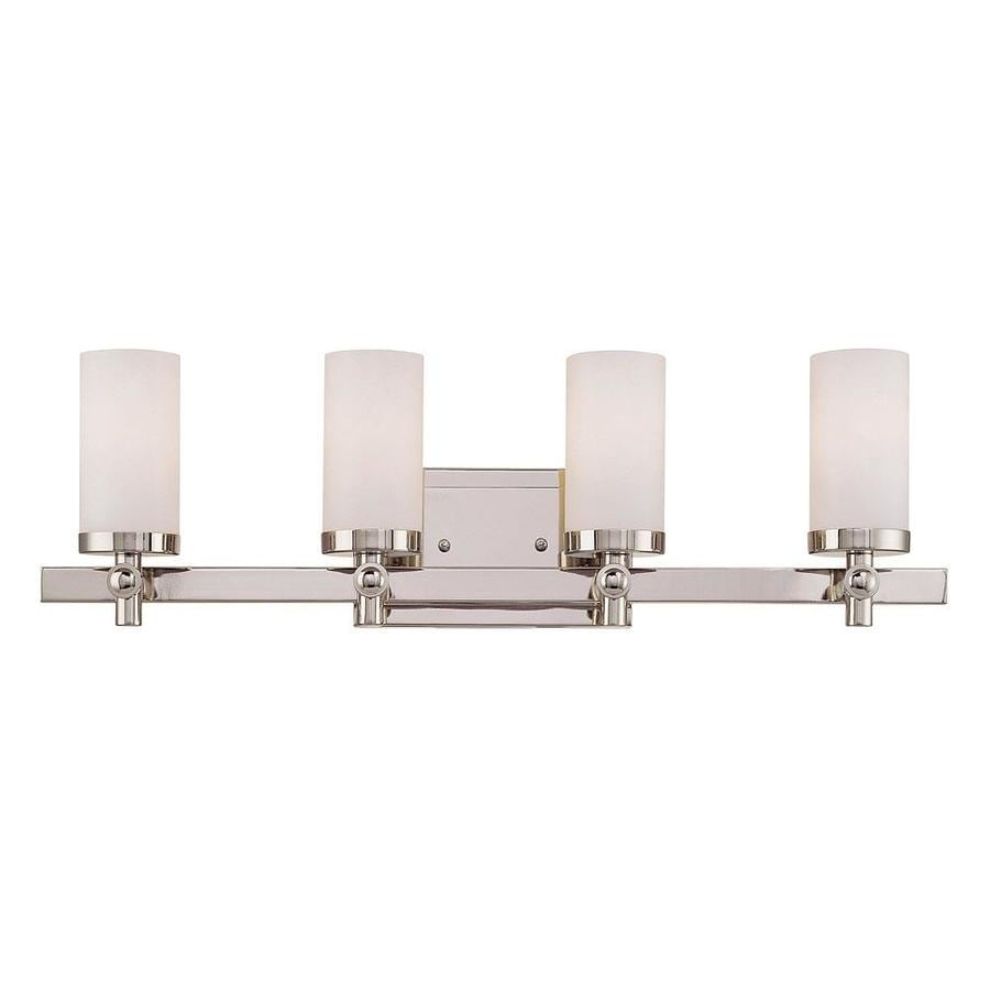 Shandy 4-Light 7.5-in Polished nickel Vanity Light