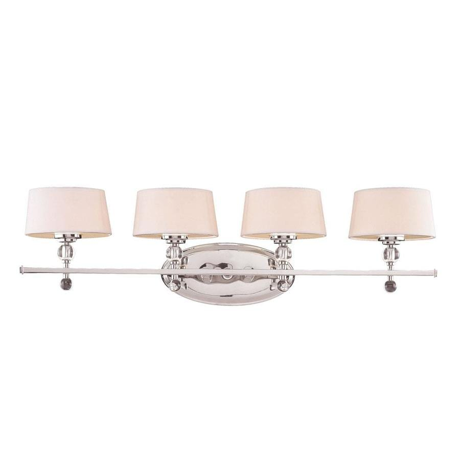 Shop Shandy 4 Light 35 In Polished Nickel Vanity Light At