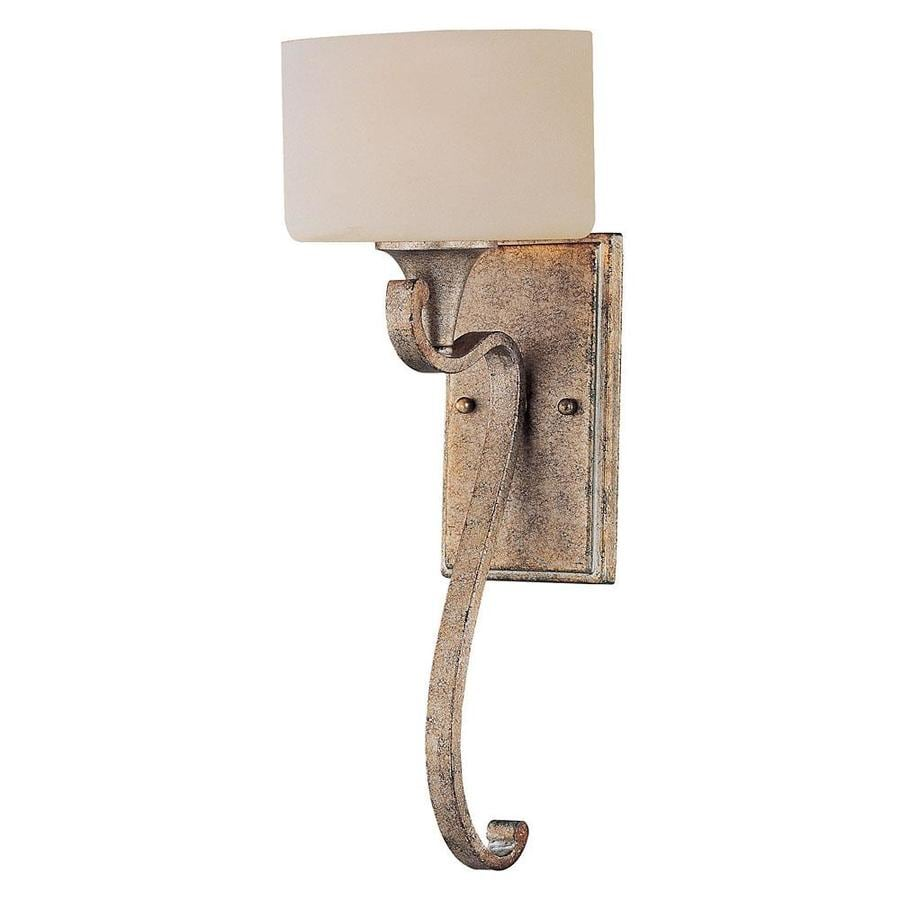 Shandy 7.5-in W 1-Light Gold Dust Arm Hardwired Wall Sconce