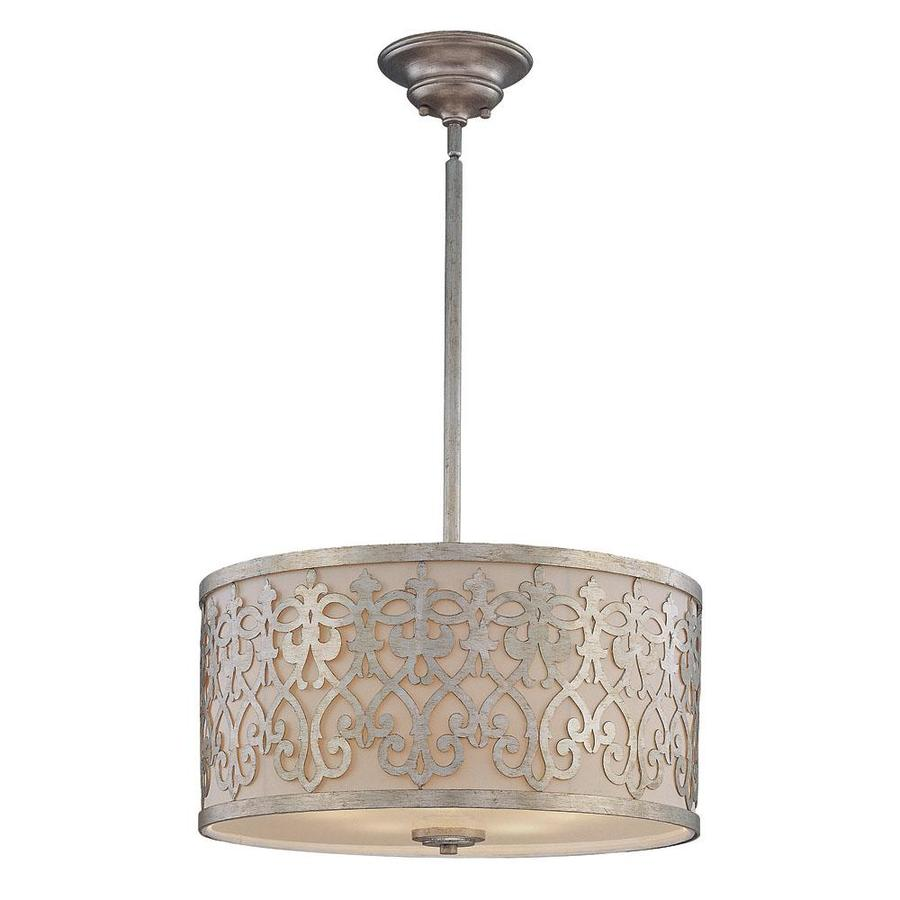 Shandy 22.5-in Argentum Single Tinted Glass Pendant