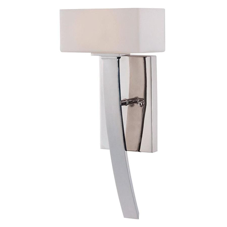 Shandy 7-in W 1-Light Polished Nickel Arm Wall Sconce