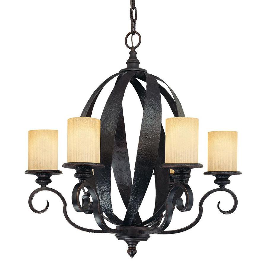 Shandy 25.25-in 4-Light Slate Candle Chandelier
