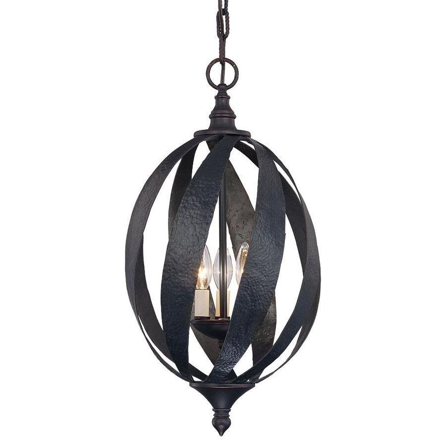 Shandy 12-in Slate Single Textured Glass Pendant