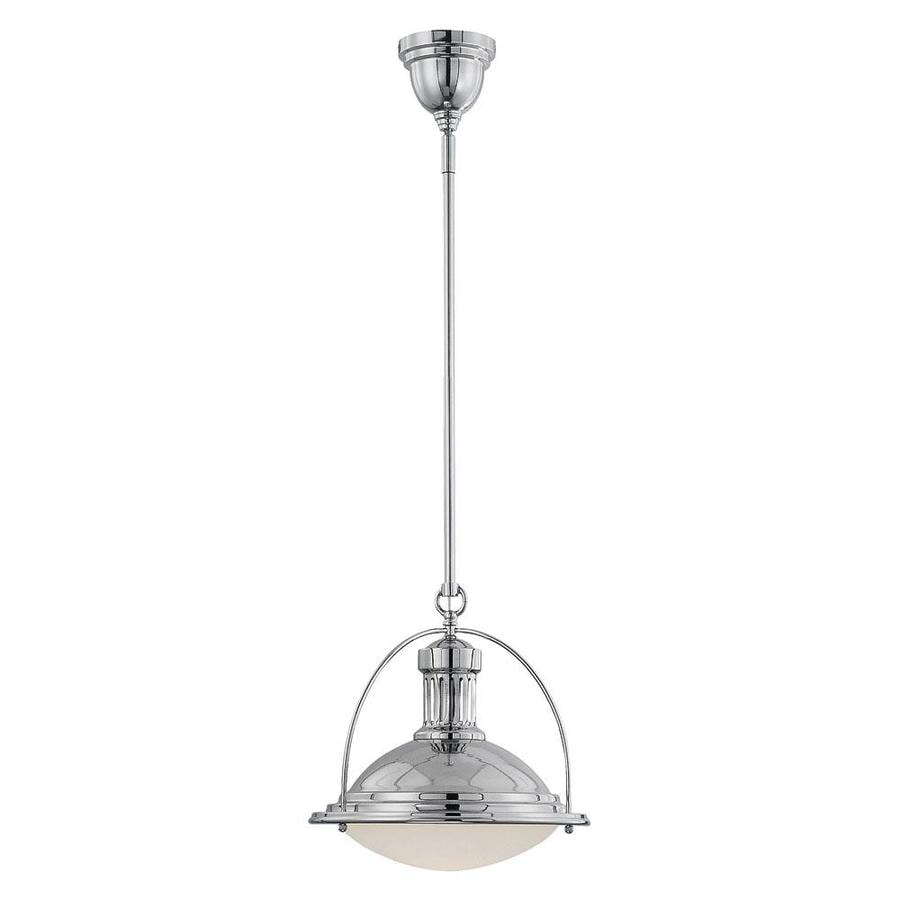 Shandy 13-in Polished Nickel Single Pendant
