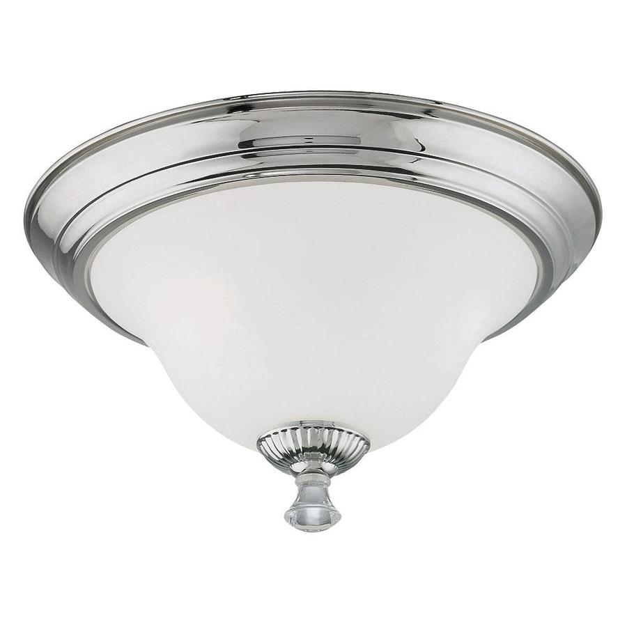 16.91-in W Polished Nickel Flush Mount Light