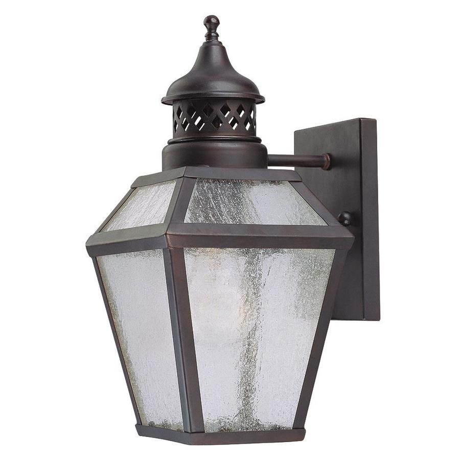 12.5-in H English Bronze Outdoor Wall Light