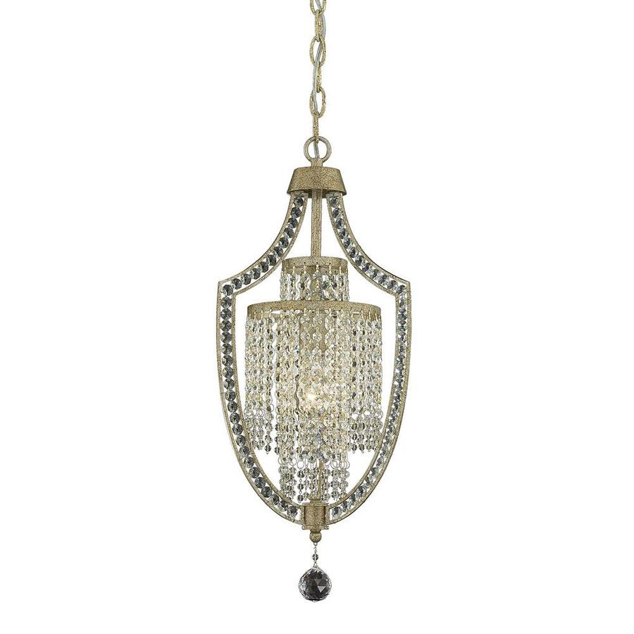 Shandy 11-in 1-Light Gold Dust Clear Glass Candle Chandelier