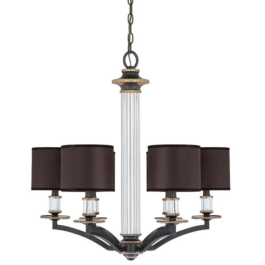 Shandy 26-in 6-Light Distressed Bronze Candle Chandelier