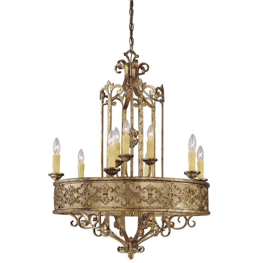 Shandy 29.5-in 9-Light Oxidized Silver Candle Chandelier