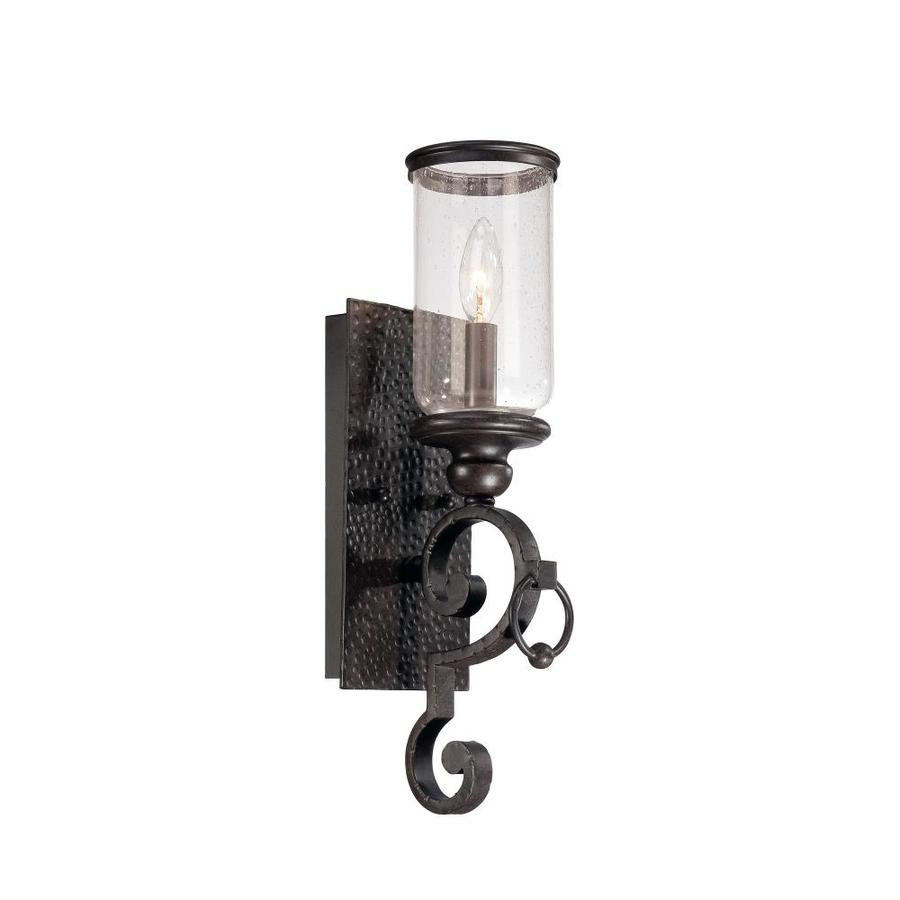 Shandy 5-in W 1-Light Forged Black Arm Hardwired Wall Sconce