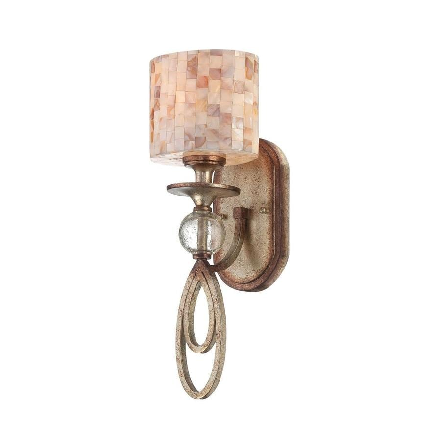 Shandy 6.5-in W 1-Light Oxidized Silver Arm Wall Sconce