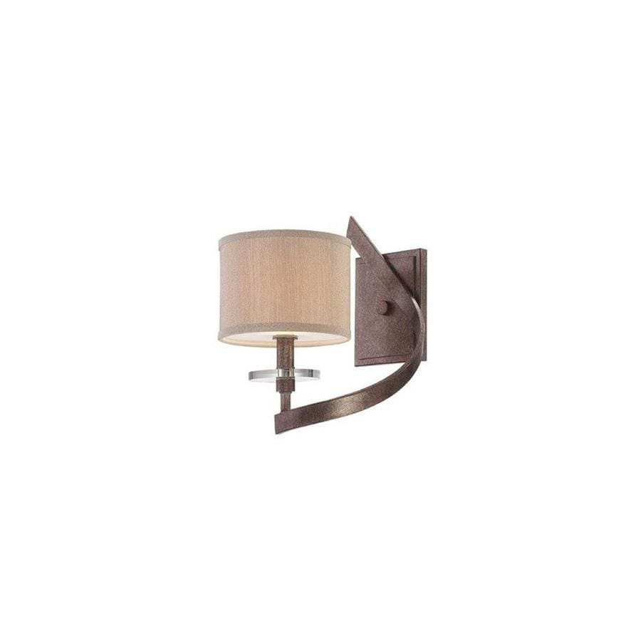 Shandy 8.375-in W 1-Light Antique Nickel Arm Hardwired Wall Sconce