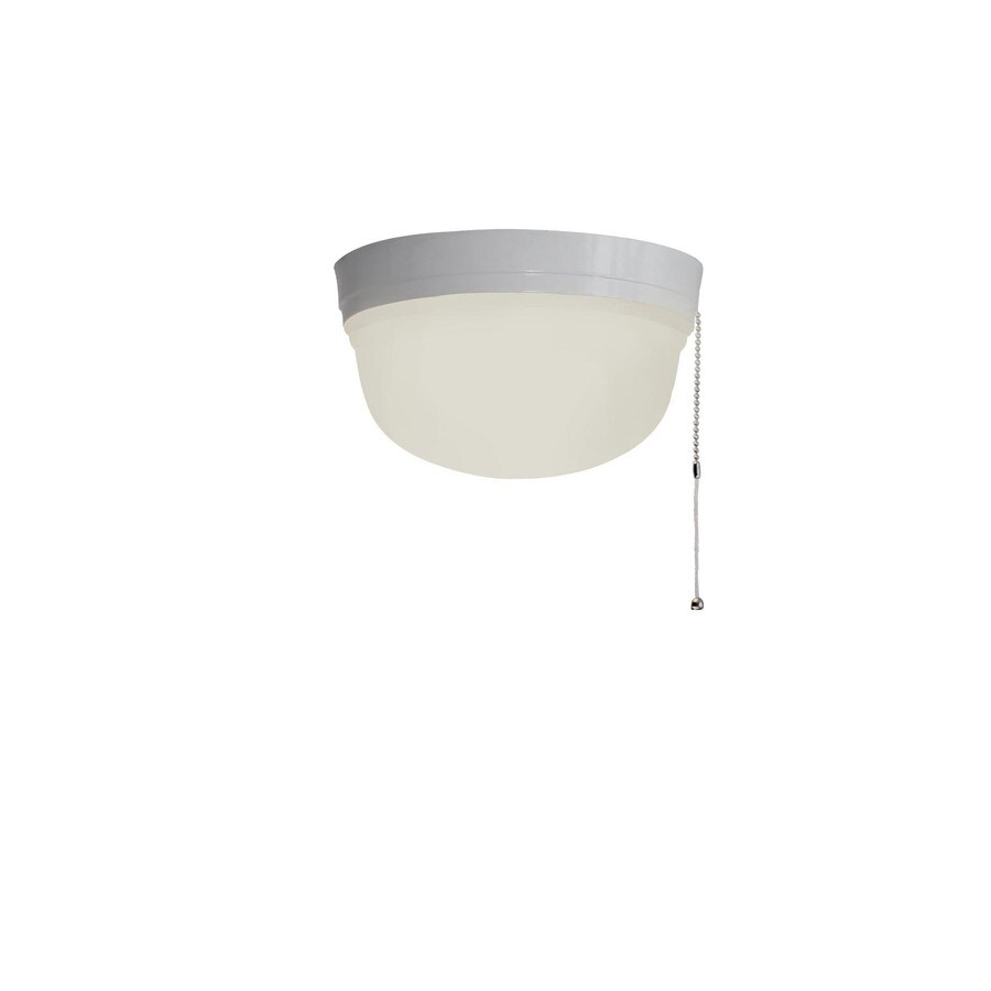 shop utilitech 8 35 in w white flush mount light at lowes com