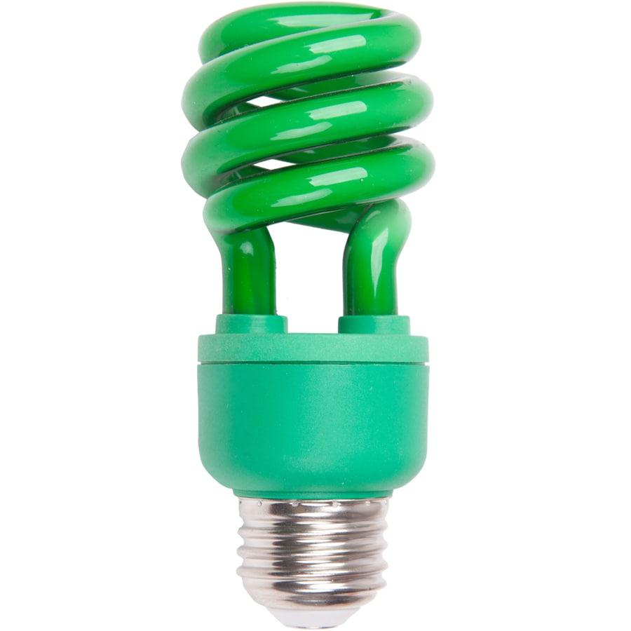 60 w equivalent green spiral cfl decorative light bulb at. Black Bedroom Furniture Sets. Home Design Ideas