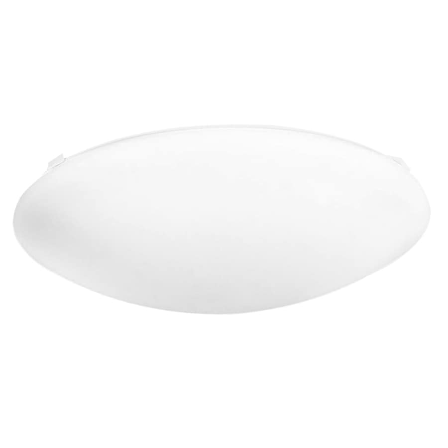 Utilitech Pro 12.598-in W White Integrated Flush Mount Light