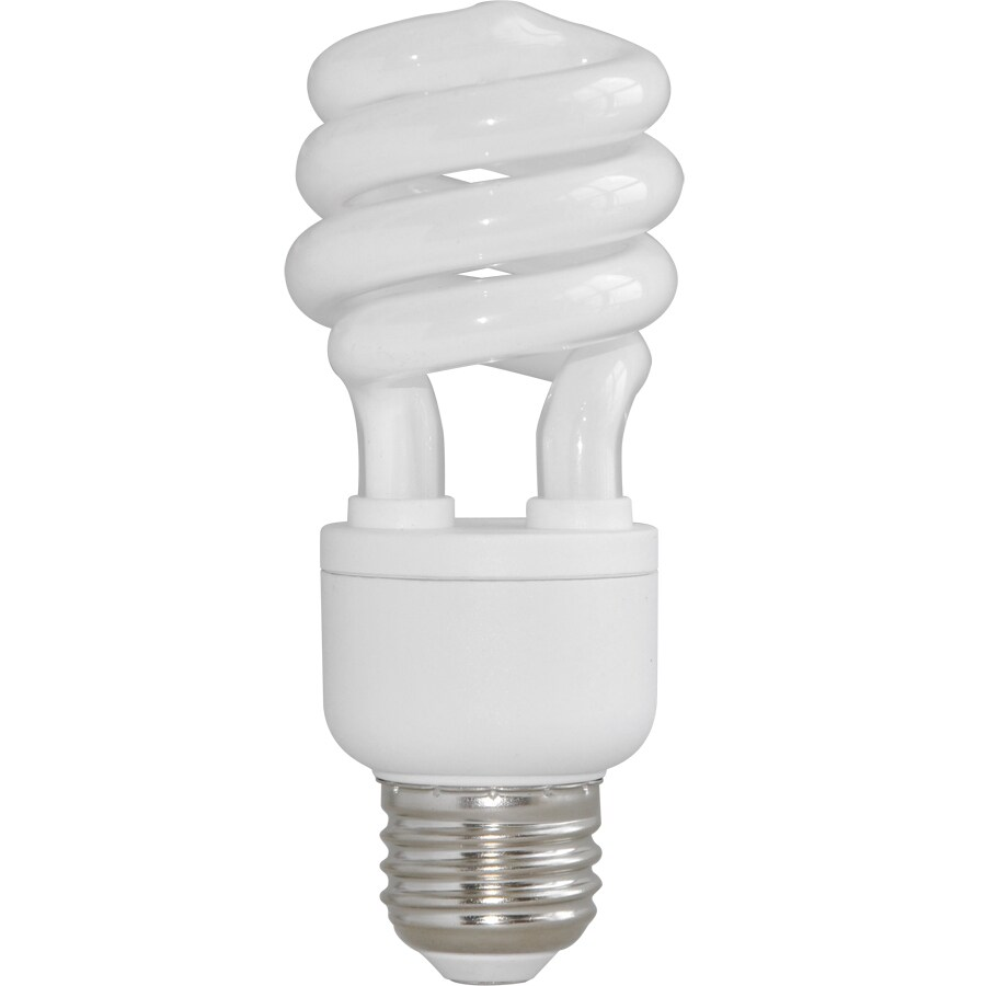 Utilitech 2-Pack 60 W Equivalent Bright White Spiral CFL Decorative Light Bulb