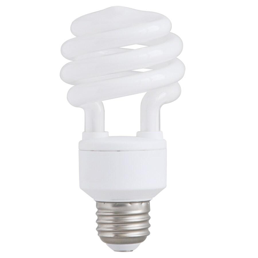 shop utilitech 2 pack 75 w equivalent soft white spiral cfl