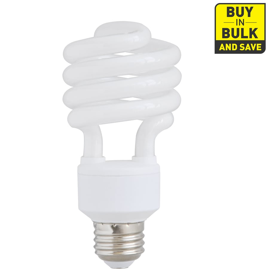 Utilitech 4-Pack 100 W Equivalent Bright White Spiral CFL Decorative Light Bulb