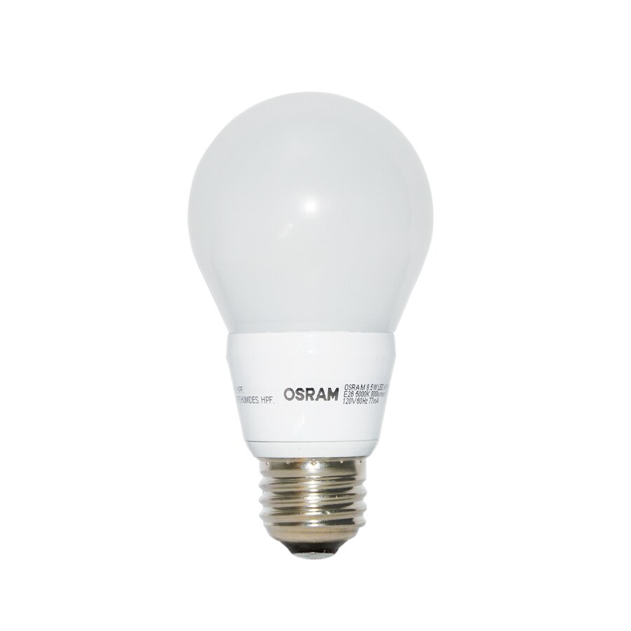 Shop Osram 60w Equivalent Dimmable Daylight A19 Led Light Fixture Light Bulb At