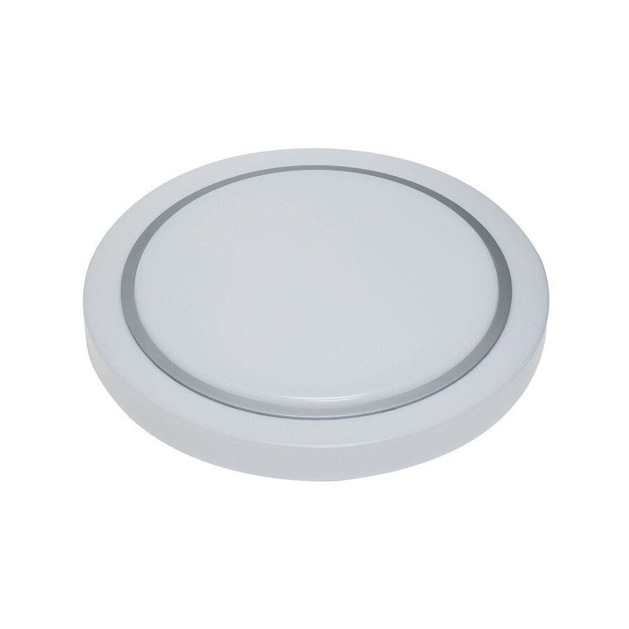 Portfolio 23.6-in W White LED Flush Mount Light