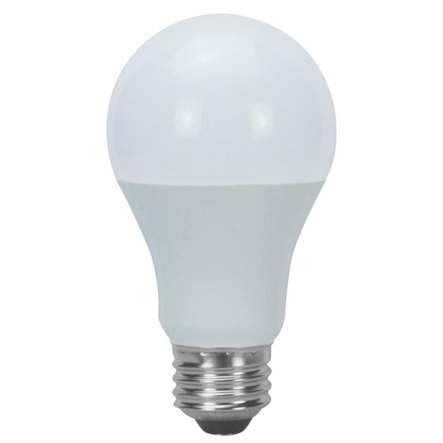 Shop Utilitech 6 Pack 60w Equivalent Warm White A19 Led Light Fixture Light Bulbs At