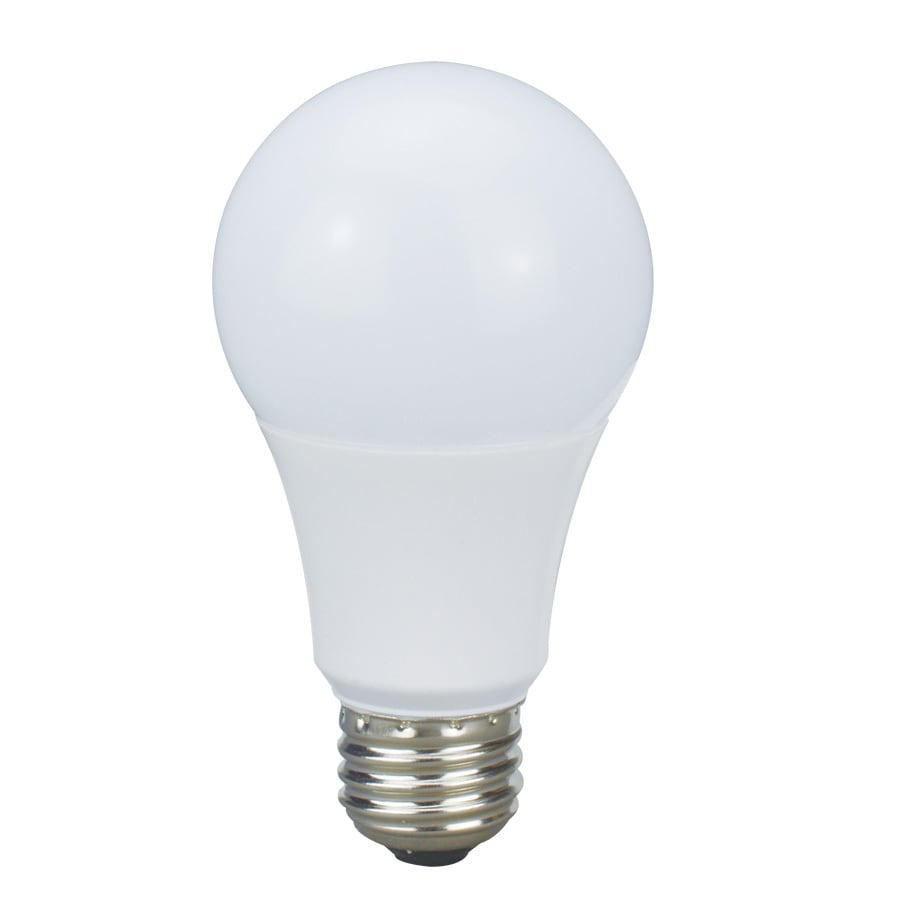 A19 Led Light Bulbs: Utilitech Pro 60 W Equivalent Dimmable Warm White A19 LED Light Fixture Light  Bulb,Lighting