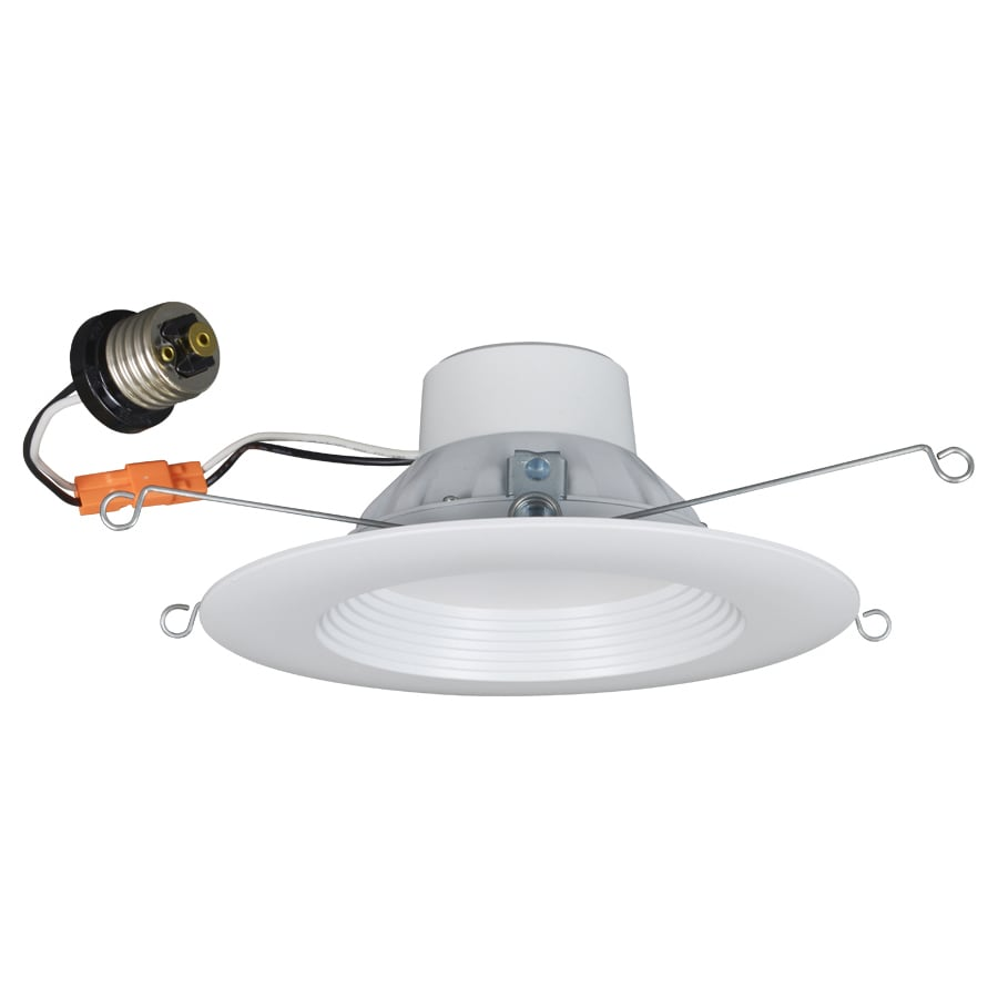 Utilitech Pro 65-Watt Equivalent White Dimmable LED Recessed Retrofit Downlight (Fits Housing Diameter: 5-in or 6-in)