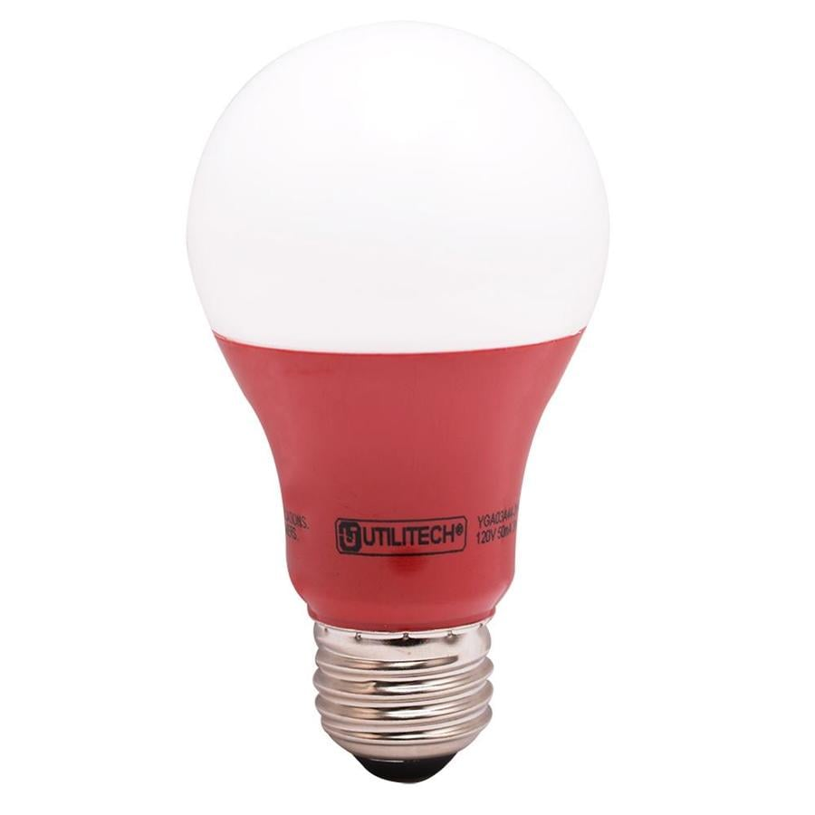 Utilitech 40 W Equivalent Red A19 LED Decorative Light Bulb