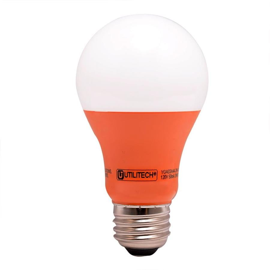 Utilitech 40 W Equivalent Orange A19 LED Decorative Light Bulb