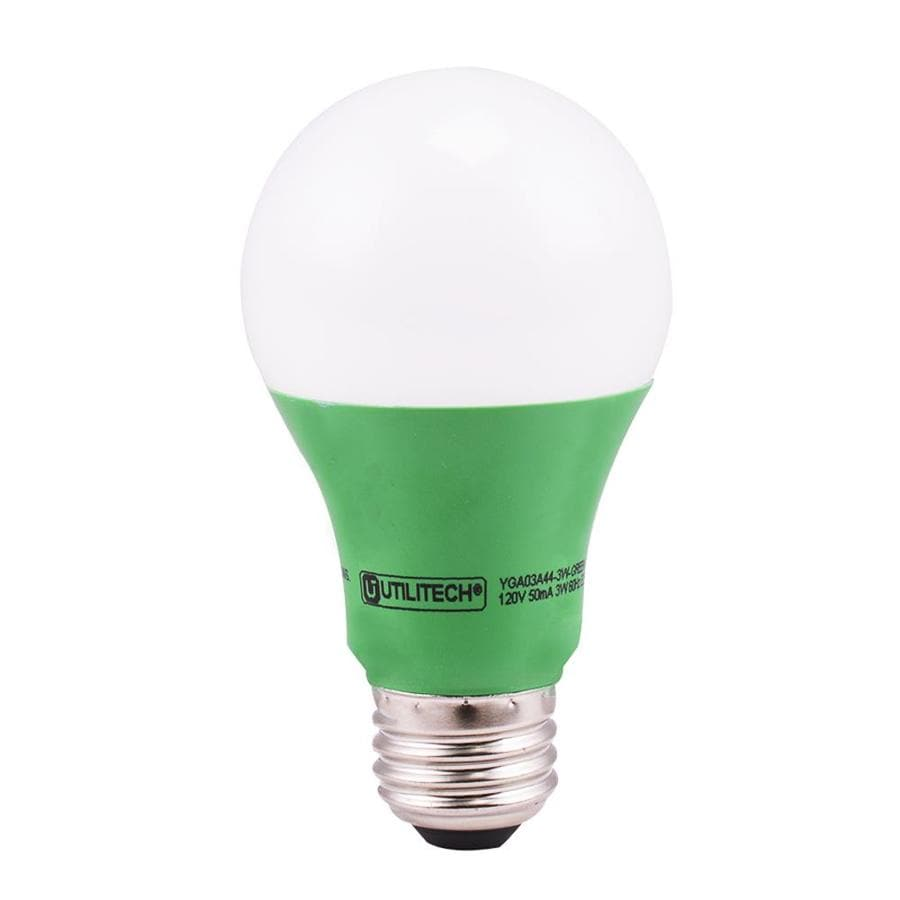 Shop Utilitech 40 W Equivalent Green A19 Led Decorative Light Bulb At