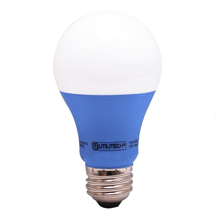 Shop Utilitech 40 W Equivalent Blue A19 LED Decorative Light Bulb at ...