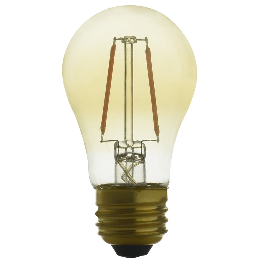 Kichler 40W Equivalent Dimmable Amber A15 Vintage LED Decorative Light Bulb