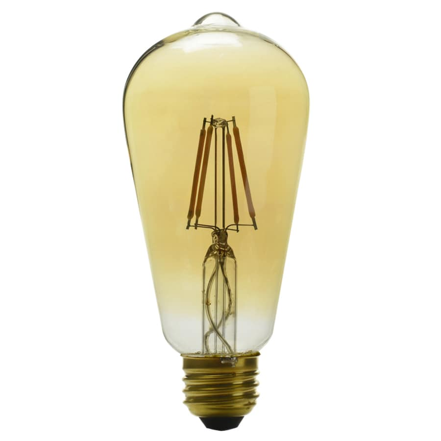 kichler 60w equivalent dimmable amber st19 vintage led decorative light bulb