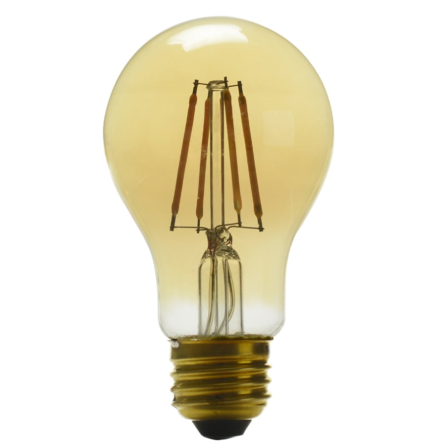 Kichler 60W Equivalent Dimmable Amber A19 Vintage LED Decorative Light Bulb