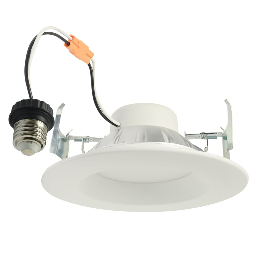 project source 65watt equivalent white dimmable led recessed retrofit downlight fits housing diameter