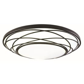Shop Flush Mount Lights at Lowes.com:Portfolio 19.11-in W Black LED Flush Mount Light,Lighting