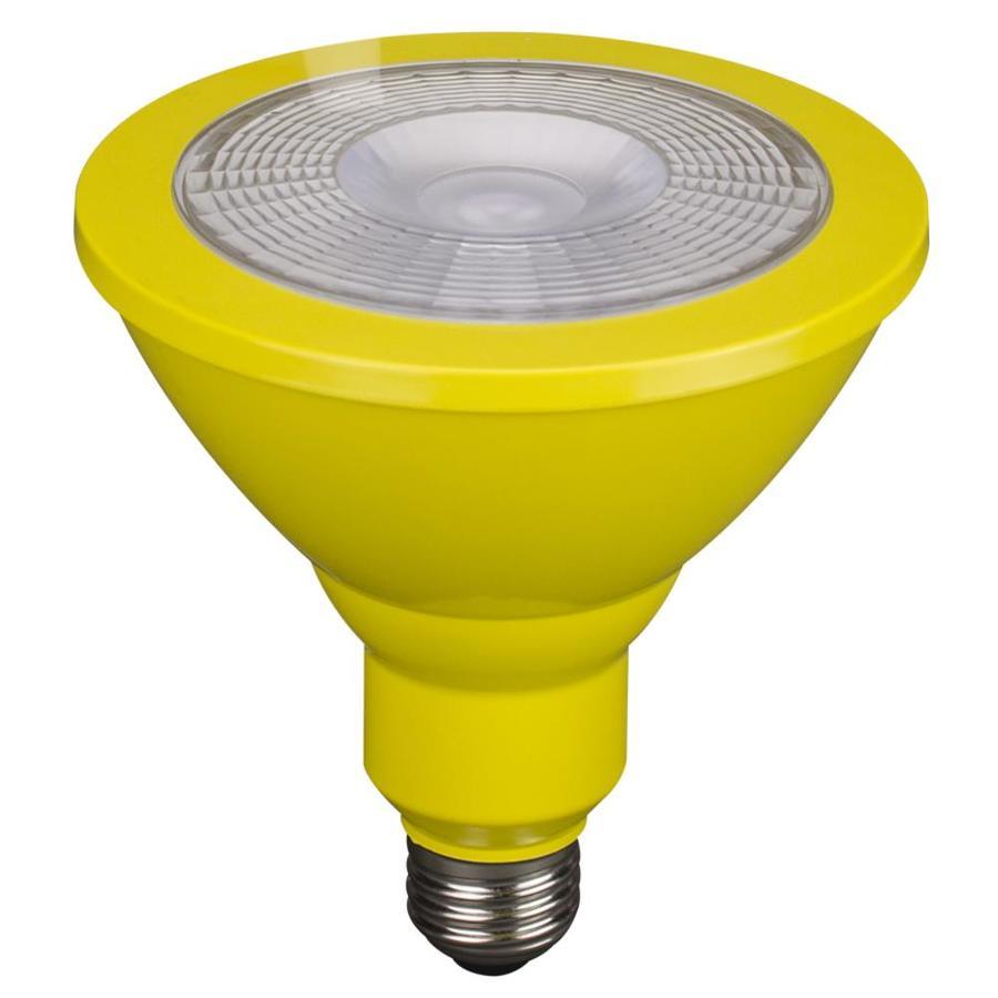 Utilitech 85 W Equivalent Yellow PAR38 LED Decorative Light Bulb