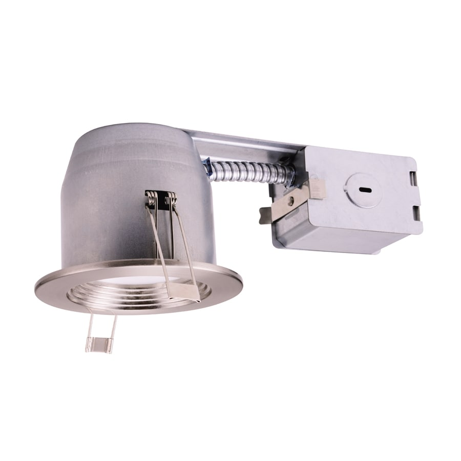 Utilitech 45-Watt Equivalent Silver Dimmable LED Recessed Retrofit Downlight (Fits Housing Diameter: 3-in)