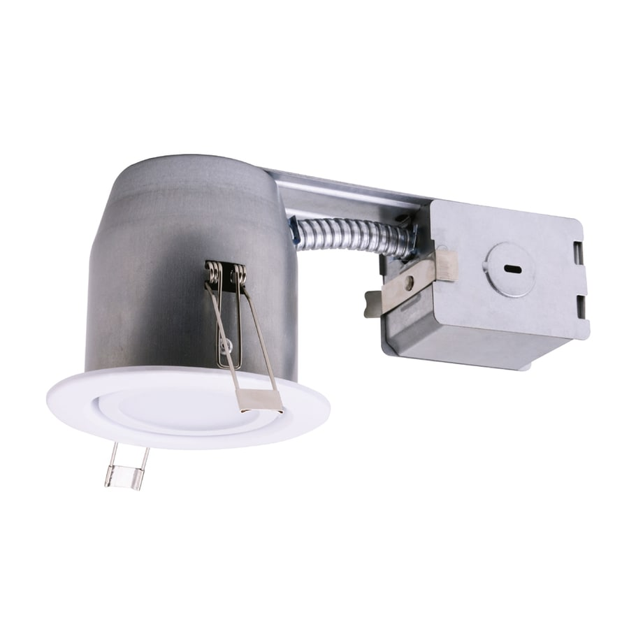 Utilitech 45-Watt Equivalent White Dimmable LED Recessed Retrofit Downlight (Fits Housing Diameter: 3-in)