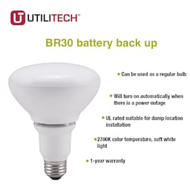 Utilitech 65-Watt EQ LED Br30 Soft White Flood Light Bulb