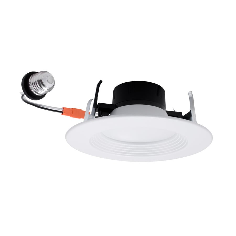Utilitech 5 In Or 6 In 65 Watt Equivalent Color Changing Led White Round Dimmable Retrofit Recessed Downlight In The Recessed Downlights Department At Lowes Com