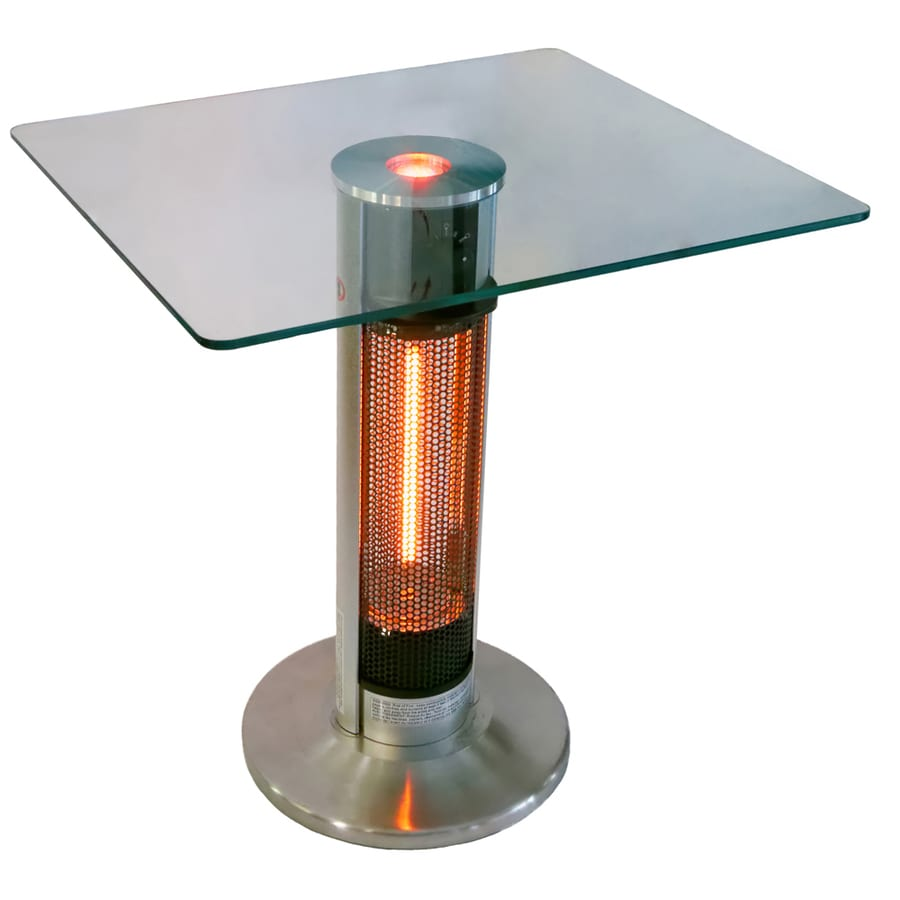 5100 110 silver black aluminum electric patio heater at