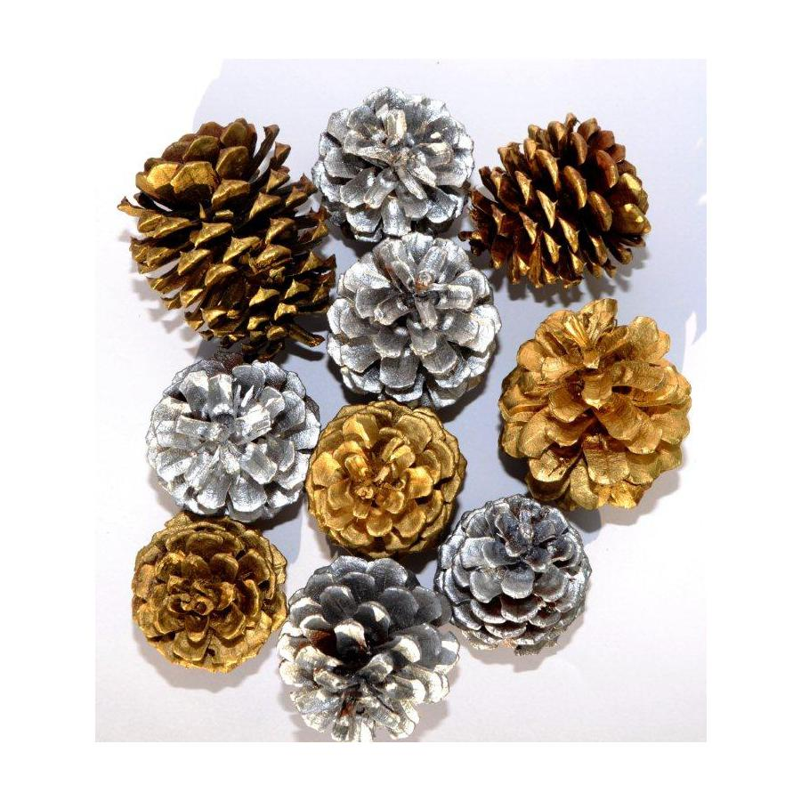 Assorted Painted Pinecones