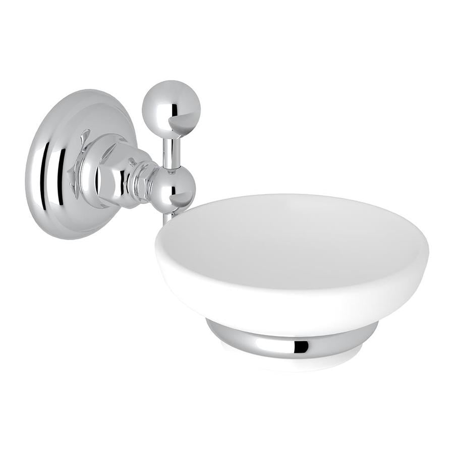 Rohl A1487apc Italian Bath Wall Mounted Soap Dish Holder With White