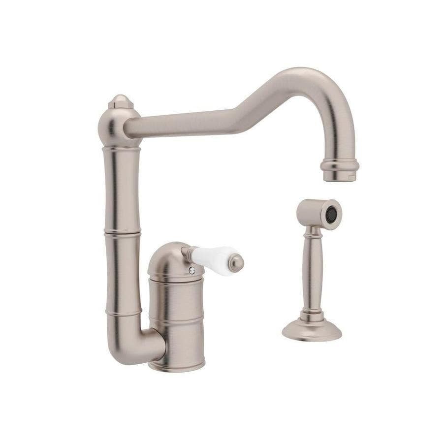 Rohl Country Kitchen Satin Nickel 1 Handle Deck Mount High