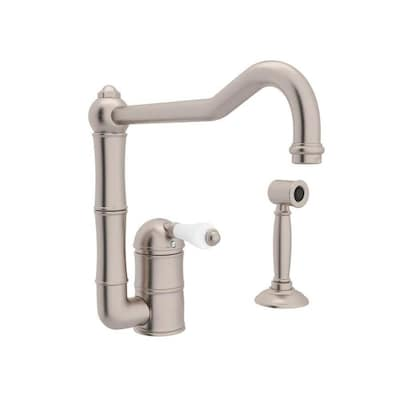 Rohl Country Kitchen Satin Nickel 1-handle Deck Mount High ...
