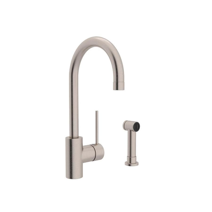 Rohl Modern Kitchen Satin Nickel 1-Handle Deck Mount High-arc Kitchen Faucet