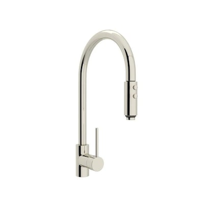 Rohl Modern Kitchen Polished Nickel 1-handle Deck Mount Pull ...
