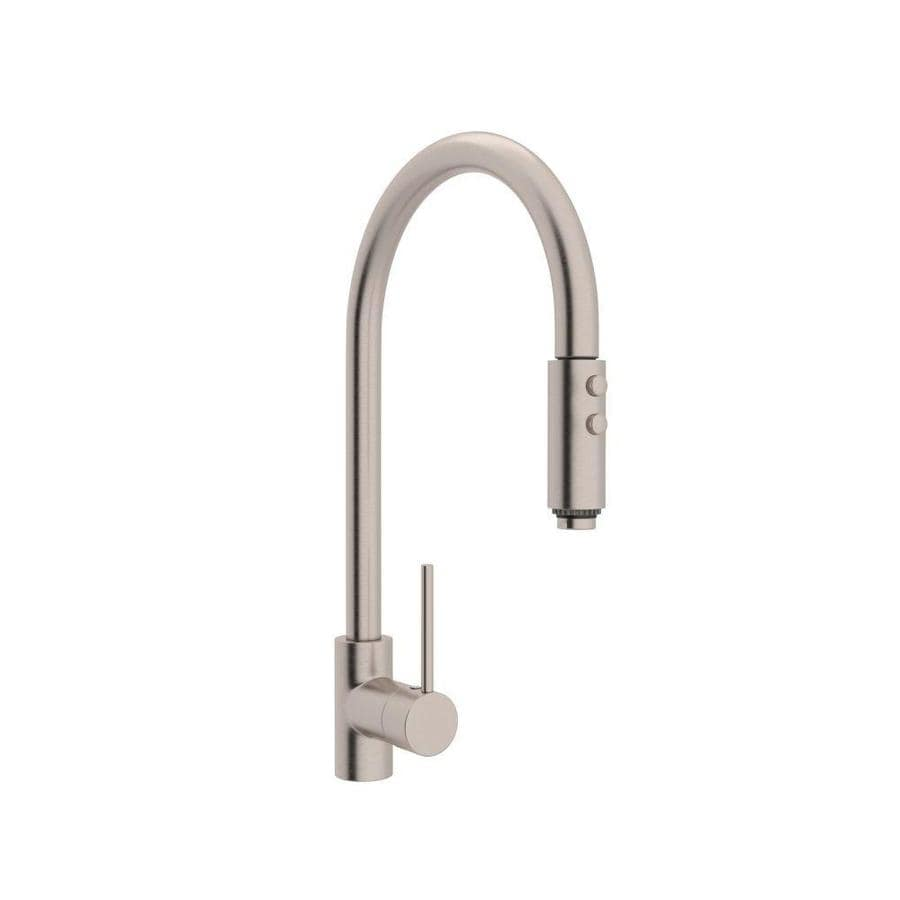 Rohl Modern Kitchen Satin Nickel 1-Handle Deck Mount Pull-down Kitchen Faucet