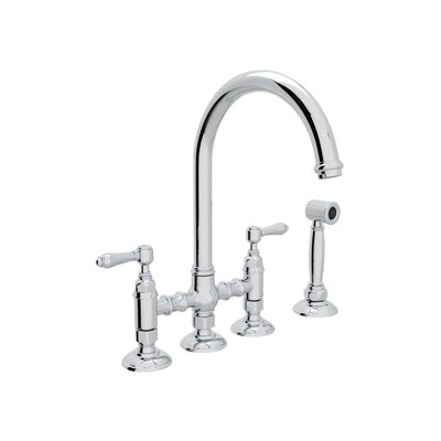 Rohl Country Kitchen Polished Chrome 2-handle Deck Mount ...
